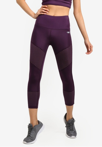 Running Bare purple Ab Waisted Beyond The Standard 7/8 Tights D35C1AA6A3651AGS_1