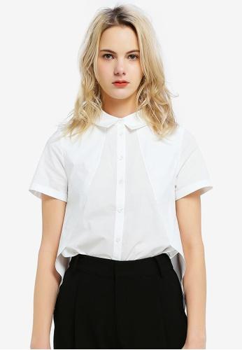 Hopeshow white Loose Fit Button Shirt 9FC2BAAEEA8A46GS_1
