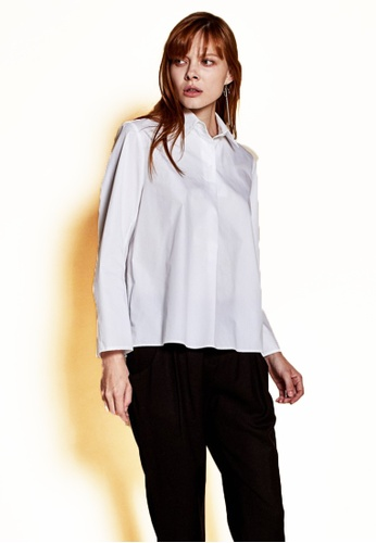 The K Story white Three Button Shirts' Blouse 89975AABBA8404GS_1