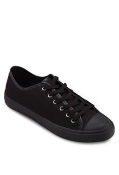 【ZALORA】 二入組帆布繫帶運動鞋