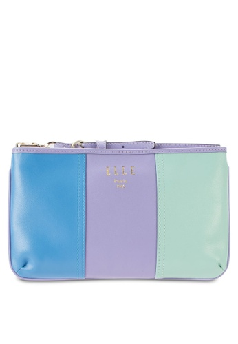 ELLE purple and multi Mircro Wristlet EL900AC81BYSMY_1