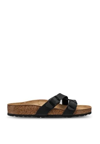 Birkenstock black Yao Birko-Flor Sandals 1981ASH73F7FDAGS_1