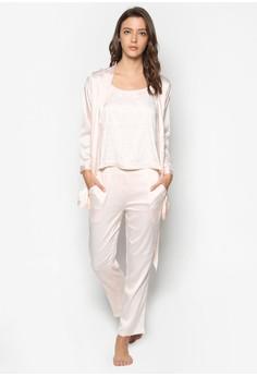 Elegant Silky Pajama and Robe Set