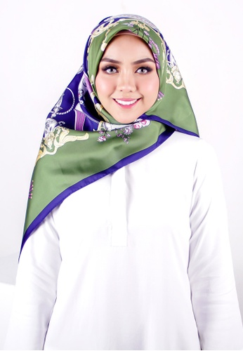 FATIMÉ multi Twill Silk Aquarius (Green Purple) 3FFC8AAFFD483AGS_1