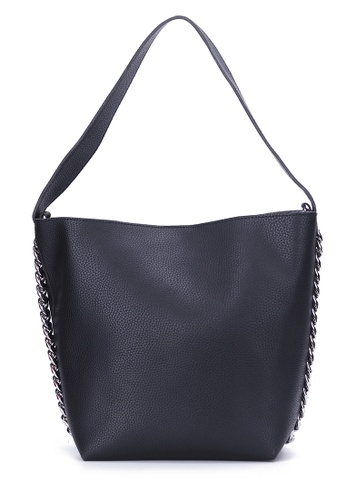 Lara black Shoulder Bag with Pouch FD19DACFB4145EGS_1