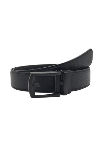 Oxhide black Formal Business Belt For Men - Real Leather Ratchet Belt with Auto Lock Buckle - TRACK BELT - ABB2C Oxhide 595E0ACF917308GS_1