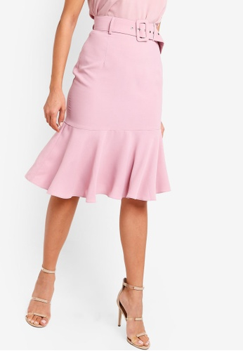 ZALORA pink Mermaid Hem Skirt AD97AAA098923AGS_1