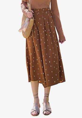 Tokichoi brown Spot Wide Legged Pants 6A67AAA2C3B542GS_1