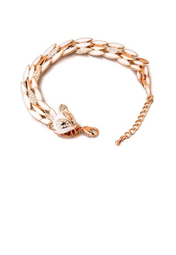 Glamorousky white Fashion Fox Bracelet with Austrian Element Crystal 515B2ACBF81230GS_1