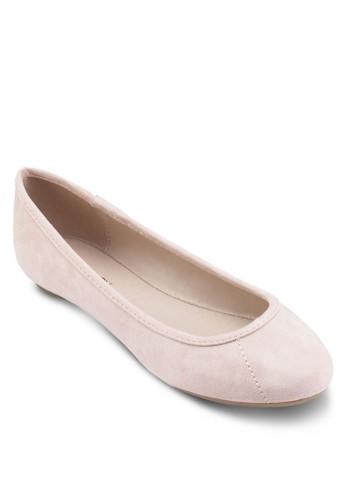 Aruba 仿麂皮平底鞋zalora 包包評價, 女鞋, 鞋