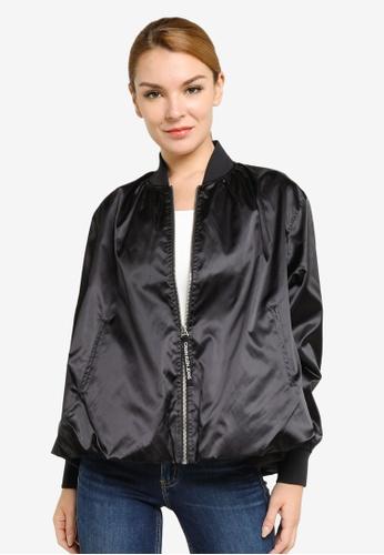 Calvin Klein black Oversized Bomber Jacket 30ED0AA2ECE4BCGS_1