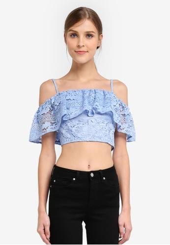 8e9fd627e5 Buy Miss Selfridge I Lace Bardot Crop Top