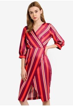 0cc741d756f CLOSET red Puff Sleeve Wrap Dress 12464AA8094E4DGS 1