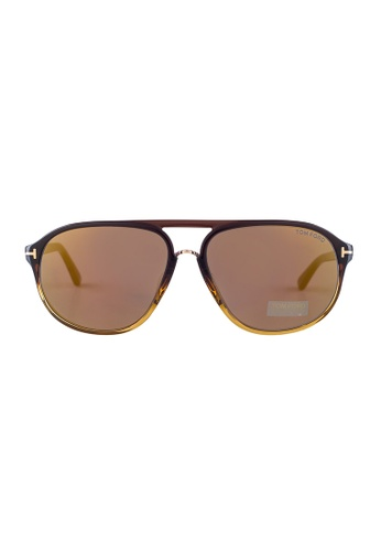 Tom Ford brown TOM FORD Jacob Aviator Brown Sunglasses TF447 TO545AC17JGWMY_1