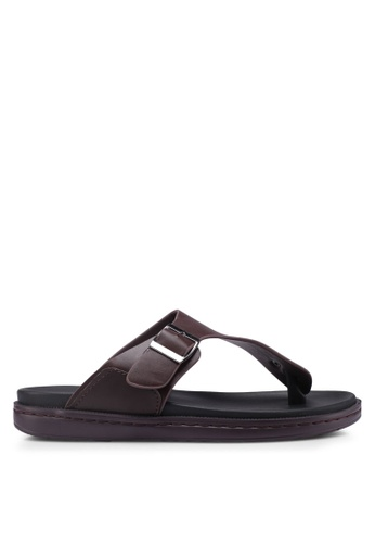 Bata brown Slide-On Flip Flops FDDFESH2A6ABB6GS_1