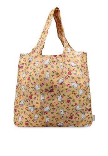 Cath Kidston yellow Moomins Linen Sprig Foldaway Shopper Bag 3A9E3ACDF0B60AGS_1