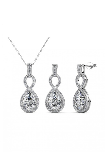 Her Jewellery silver Medallion Set - Made with Premium grade crystals from Austria CACC4AC3C5A2F4GS_1