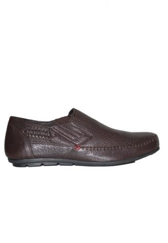 Gino Mariani brown Gino Mariani Men's Leather Shoes GALVIO - DK BROWN 03B44SH1E9F1DAGS_1