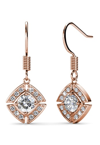 Her Jewellery gold Windmill Earrings (Rose Gold) - Made with premium grade crystals from Austria 195E5AC073EE76GS_1