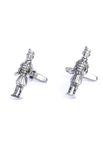 Splice Cufflinks silver Terracotta Army With Hands Free Antique Finish Cufflinks SP744AC58OKZSG_1
