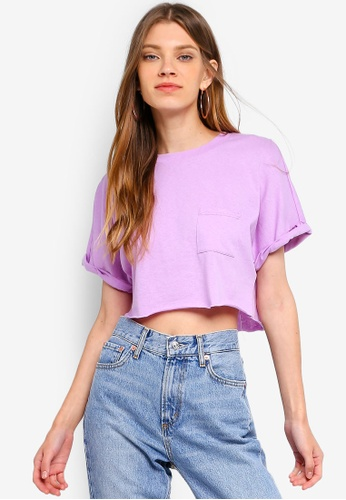 4079ca24a5 Shop TOPSHOP Sewn Off Crop Top Online on ZALORA Philippines