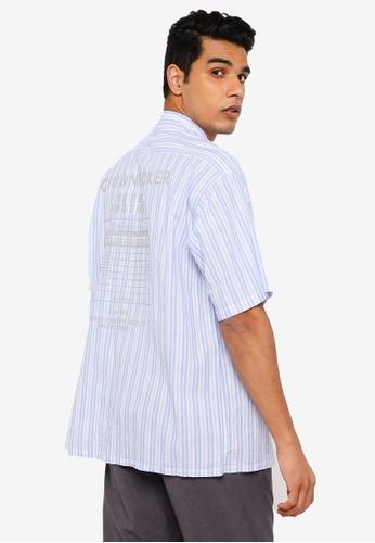 RAGEBLUE blue Casual Woven Shirt 586B5AA538CE33GS_1