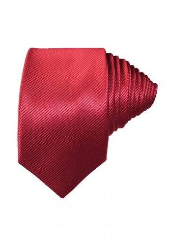 Chase Fashion red Textured Modern Slim Necktie 00100ACDC8F7E8GS_1