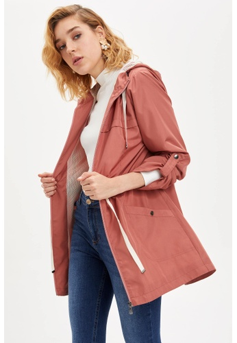 DeFacto red Woman Raincoat 1F0EEAA14A4BD6GS_1