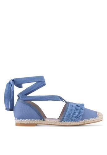 Velvet blue Fringed Espadrilles 13580SH7396495GS_1