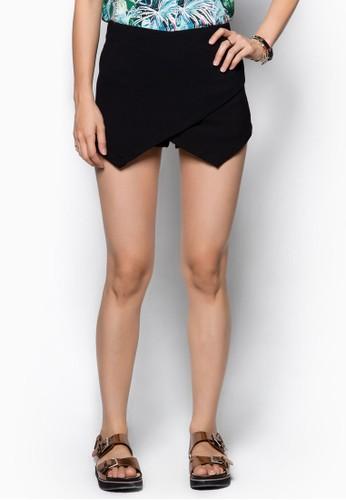 交叉裹飾褲裙, 服飾, 短esprit專櫃褲