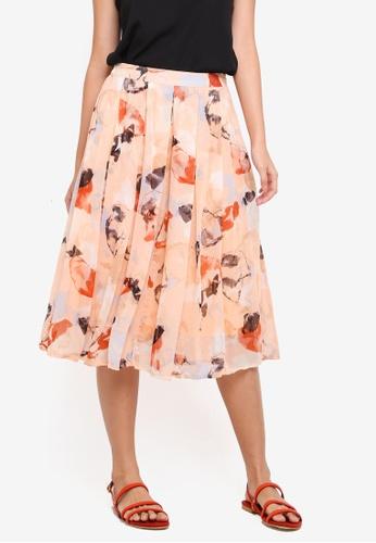 Y.A.S orange Yasopal Midi Skirt EC57EAA135334AGS_1