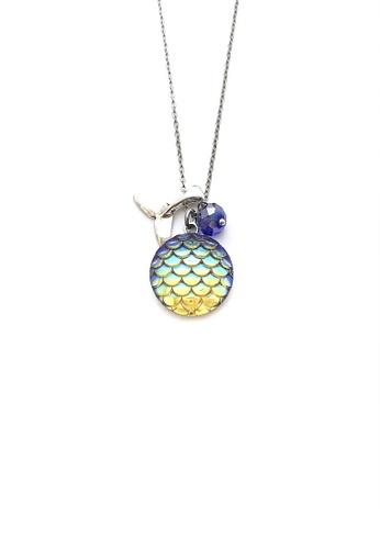 Trinkets for Keeps silver Mermaid Charm Necklace TR047AC0JXHCPH_1