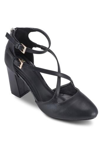 雙扣環多帶粗esprit女裝跟高跟鞋, 女鞋, 鞋