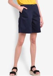 WAREHOUSE navy Knee Length Shorts WA653AA00XMTMY_1