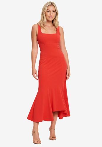 Chancery 橘色 Surie Midi Dress 08EBDAA9514EE9GS_1