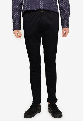 Ben Sherman black Signature Skinny Stretch Chino Trousers B164EAAEC2619AGS_1