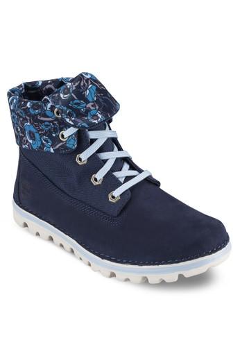 Brooktoesprit 旺角n 反折靴口繫帶短靴, 女鞋, 鞋