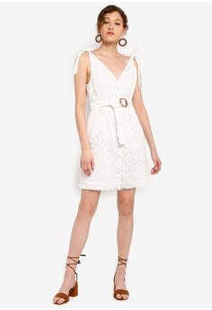 8fe17ee480 TOPSHOP Broderie Buckle Mini Dress RM 249.00. Sizes 6 8 10