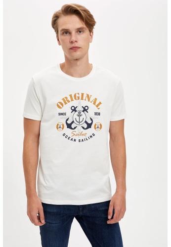 DeFacto beige Man Knitted T-Shirt D3F64AADA8678EGS_1
