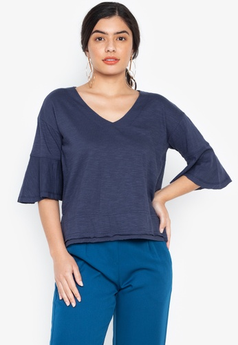 cb15011efe79e Shop Maldita Lionel Quarter Bell Sleeve Blouse Online on ZALORA ...