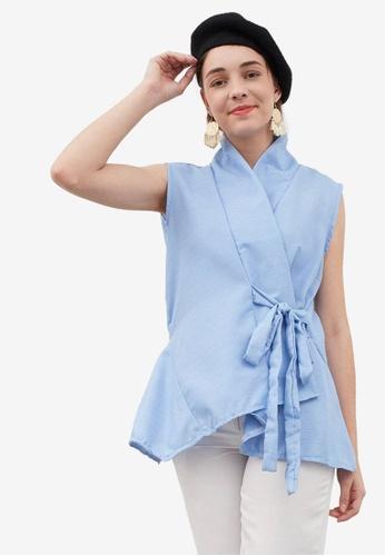 Berrybenka blue Mona Blouse 93D88AAB060234GS_1