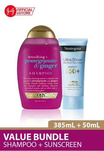 OGX OGX Pomegranate Ginger Shampoo 385ml + Neutrogena Ultra Sheer Face Lotion SPF50 50ml DA816BE877F043GS_1