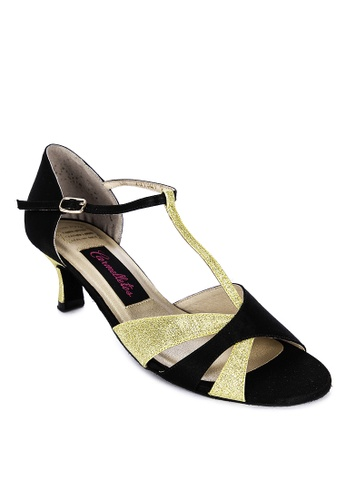 CARMELLETES gold Glitter And Fabric Dancing Shoes 610C5SH78BE7CEGS_1
