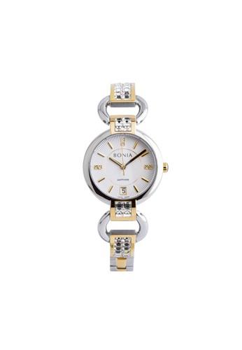 Bonia gold and silver Bonia B10383-2112 - Jam Tangan Wanita - Silver Gold 3A313AC4C3C76CGS_1