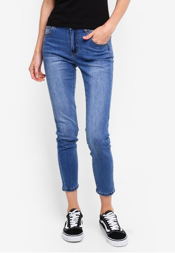 Cotton On blue Mid Rise Grazer Skinny Jeans 692D5AA49E2FD7GS_1