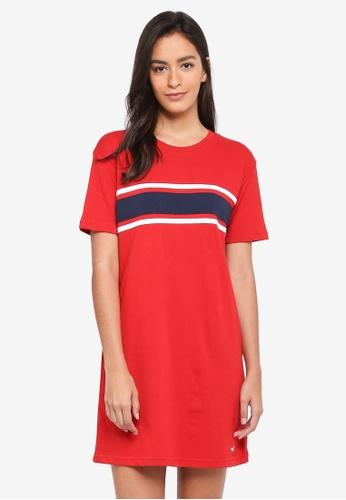 Hollister red Chase T-Shirt Dress D7961AA0623281GS_1