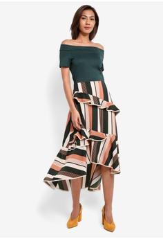 October Layered Stripe Dress