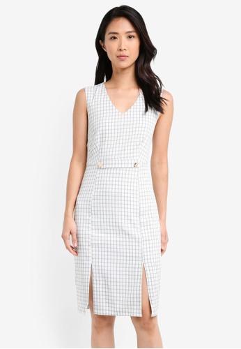 ZALORA grey Bodycon Dress with Slits 0A6EDAAFA1F977GS_1