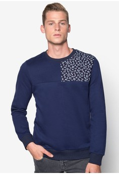 Trendy Panel Sweatshirt