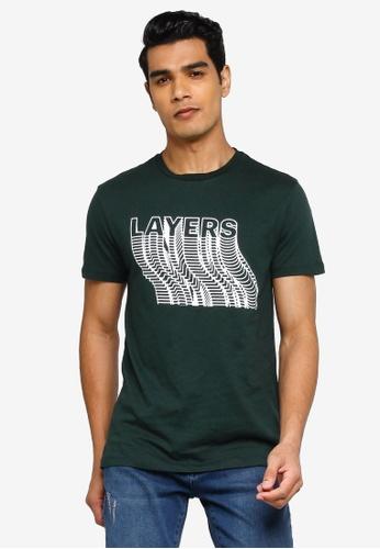 KOTON green Layers T-Shirt 4E124AA1E1395CGS_1